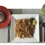 Pancit-Canton with shrimp and/or pork